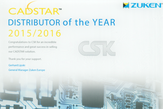 csk cadstar distributor of the year 2015 2016