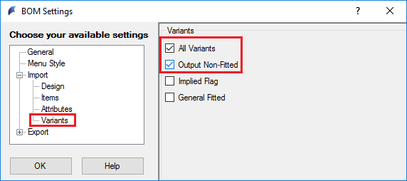 Variant Information was not set / was not correctly
