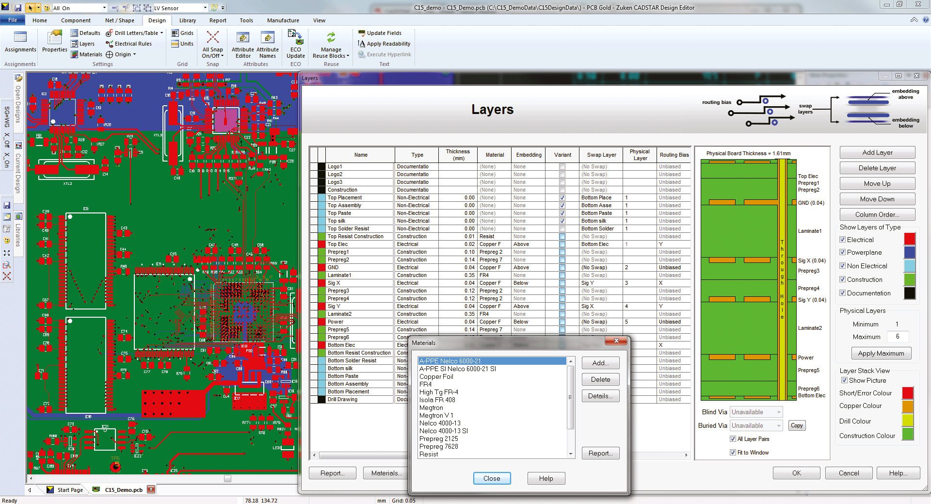 3D Promotion pcb design software cadstar basic layer stack configurator