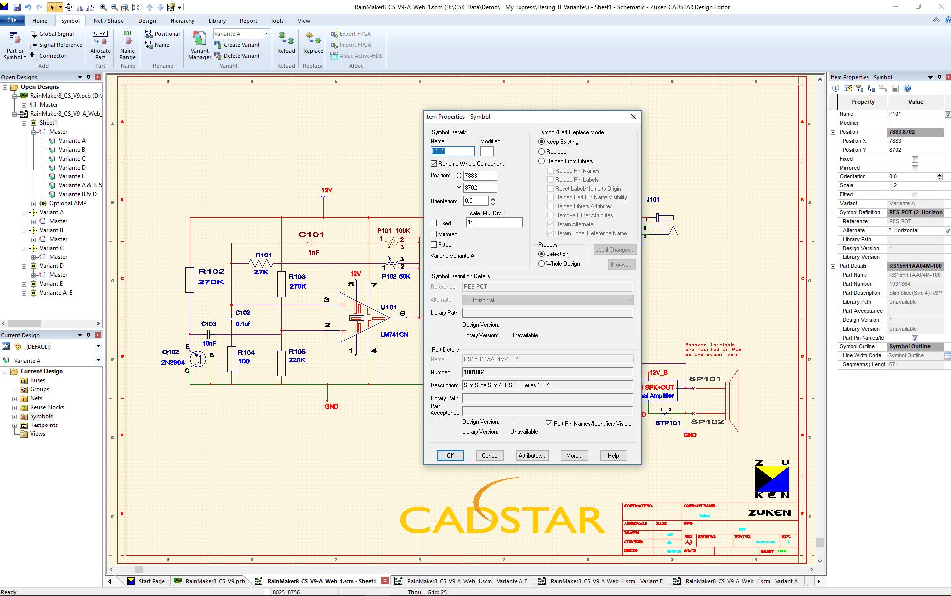 Bundle Basic 3d Pcb Design Software Cadstar Zuken Csk Circuit Diagram Promotion Schematics Variants Bestueckungs Variante A Scm Ohne Bestueckte