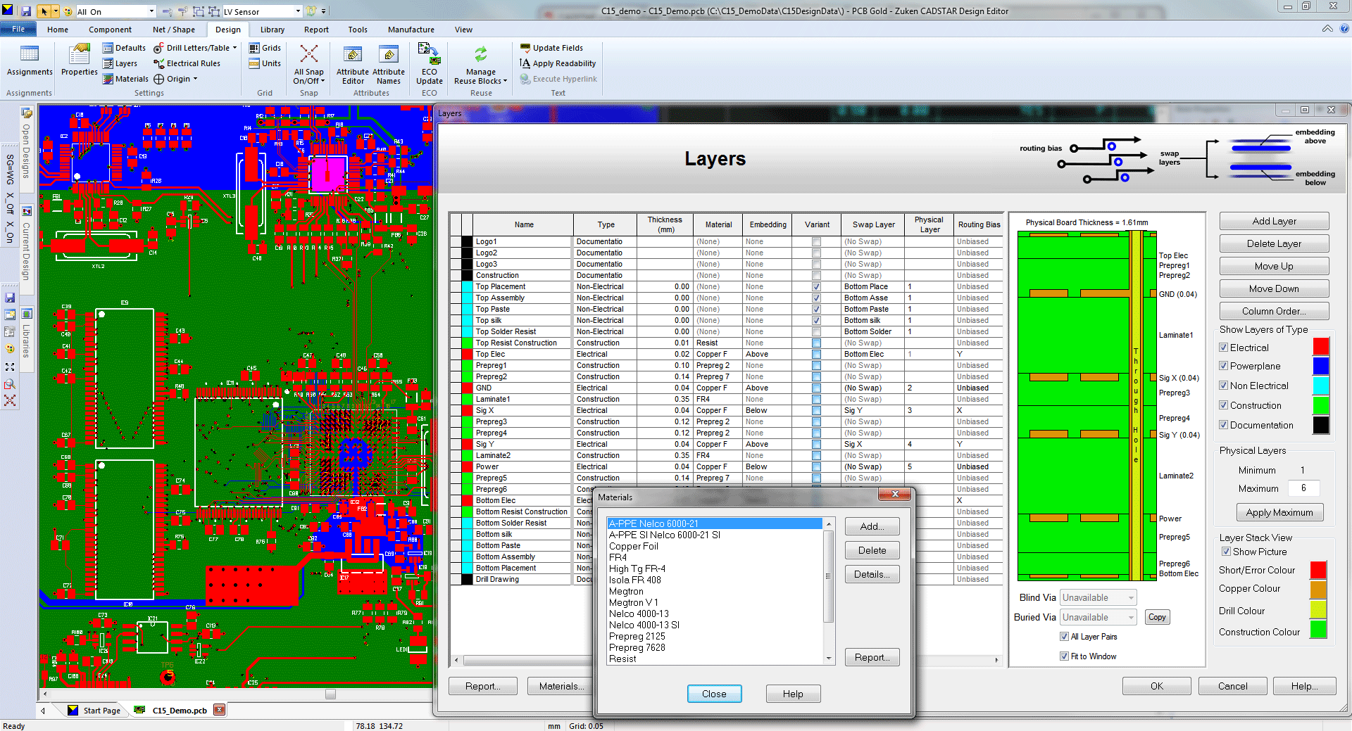 3D Promotion pcb design software cadstar professional layer stack configurator
