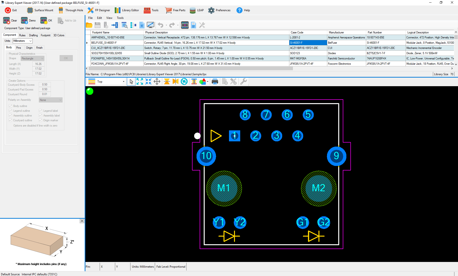 ipc  standard  pcb  library  expert  Viewer  Case  Code  3