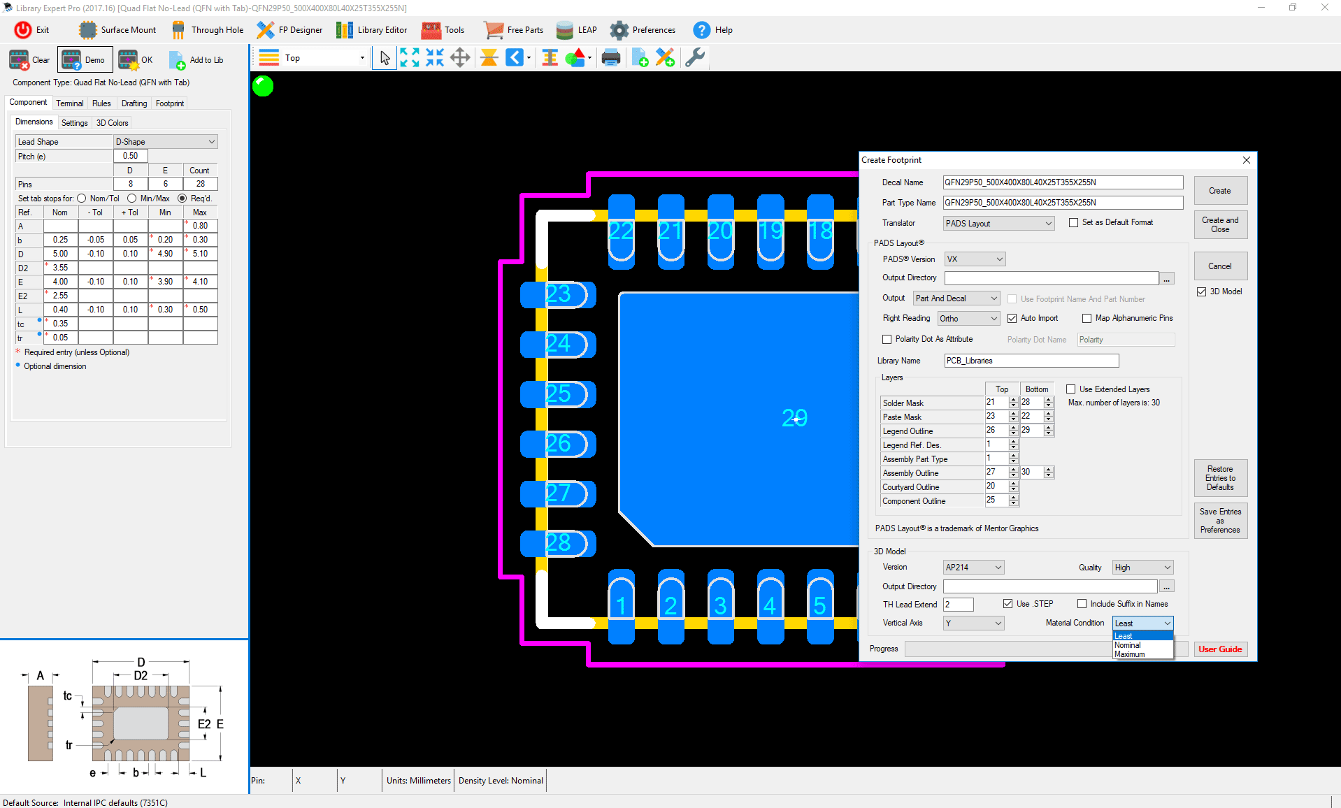 ipc standard pcb library expert professional create footprint 2
