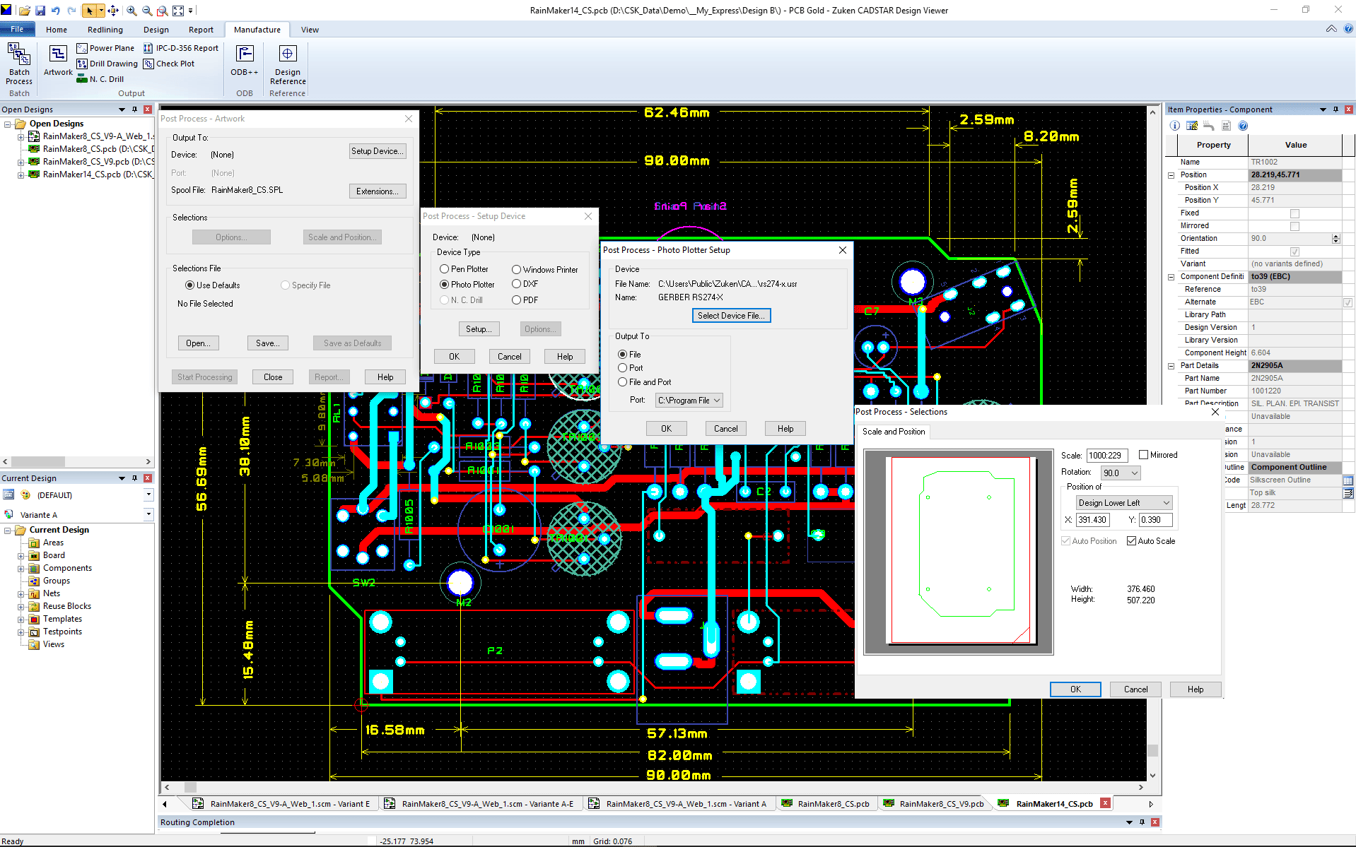 pcb design software CADSTAR Design Viewer Plus Gerber Output