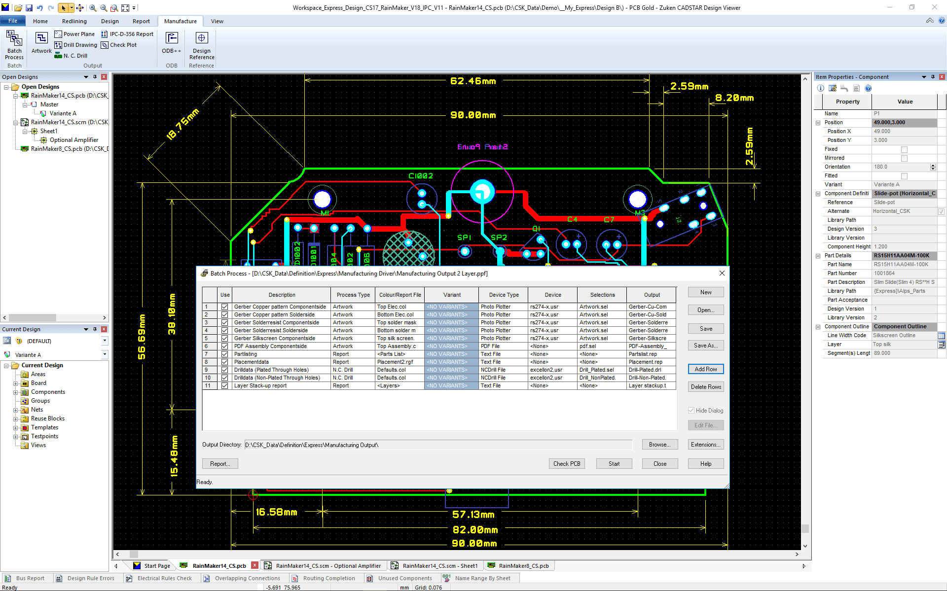 pcb design software CADSTAR Design Viewer Plus batch manufacturing data