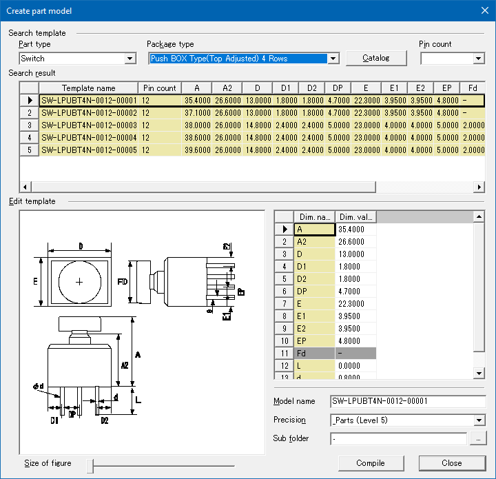 pcb design software cadstar board modeler lite 3d part wizard