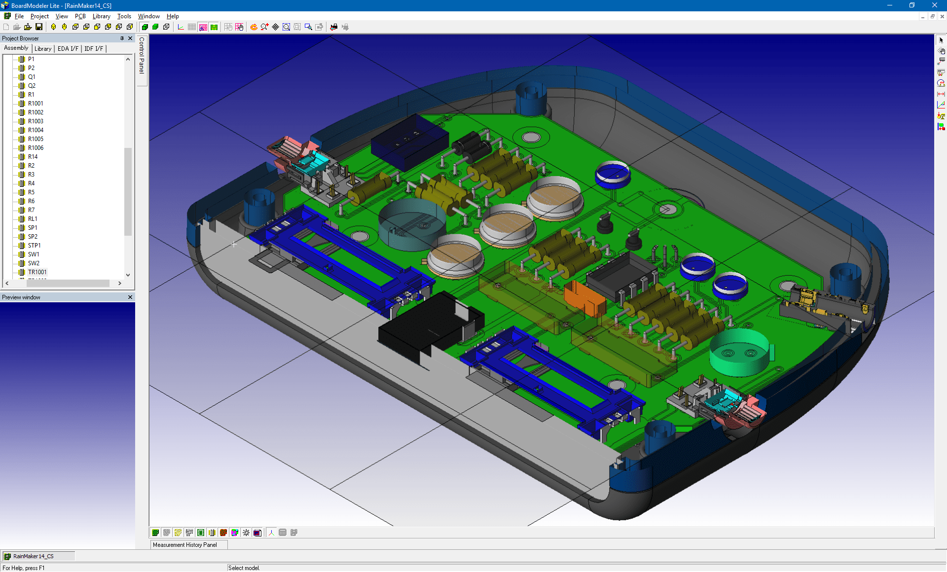 pcb design software cadstar board modeler lite cutting plane top v2