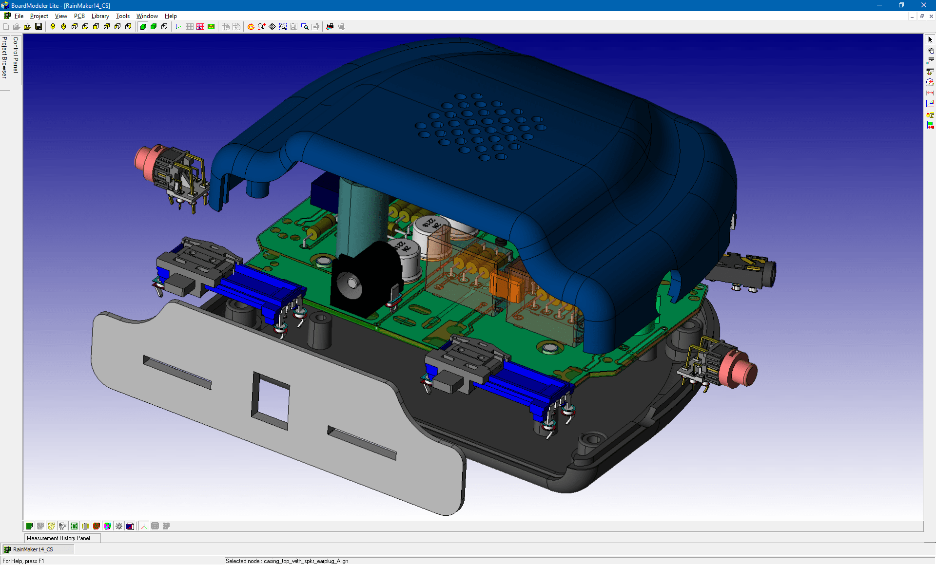 pcb design software cadstar board modeler lite explosive view