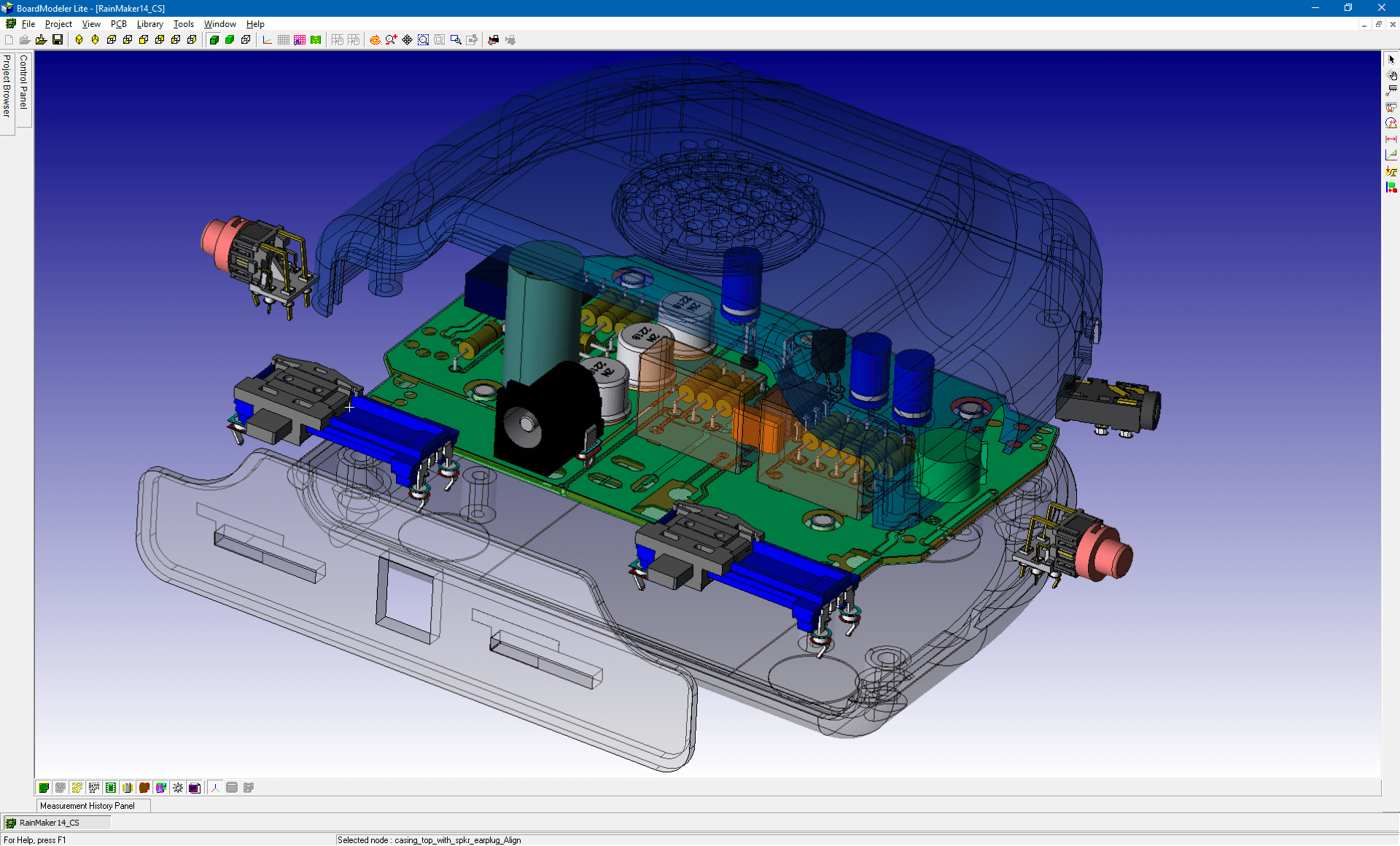pcb design software cadstar board modeler lite explosive view transparent cases