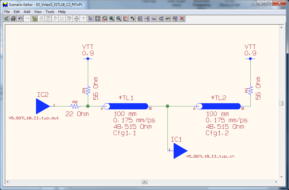 pcb design software cadstar constraint browser topology of a vertex sstl class termination
