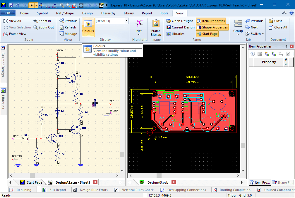 pcb design software cadstar express cross probing