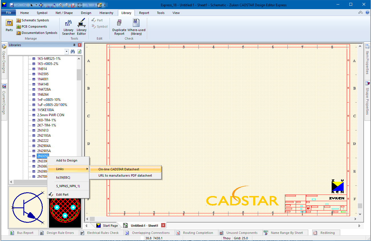 pcb design software cadstar express scm sheet1