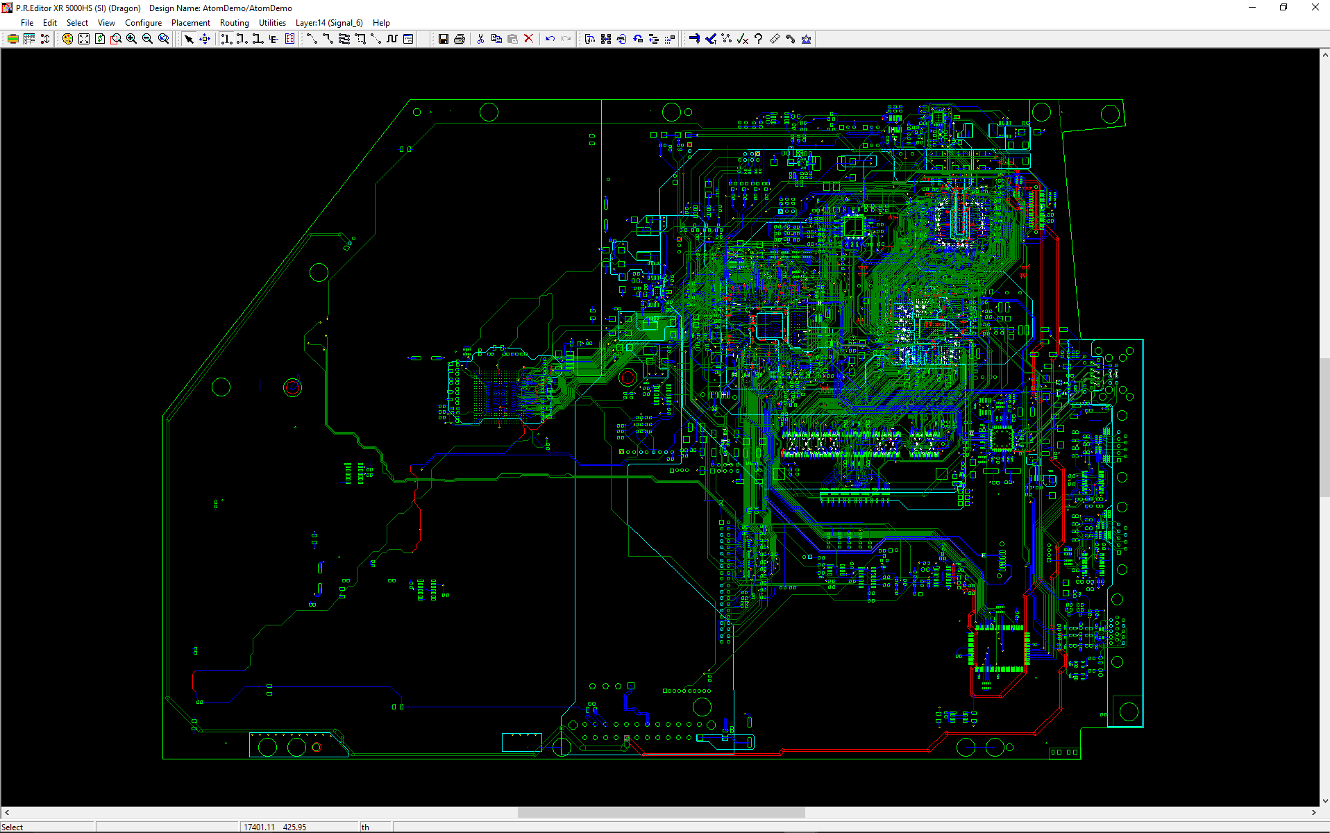 pcb design software cadstar place and route editor highspeed Intel Atom
