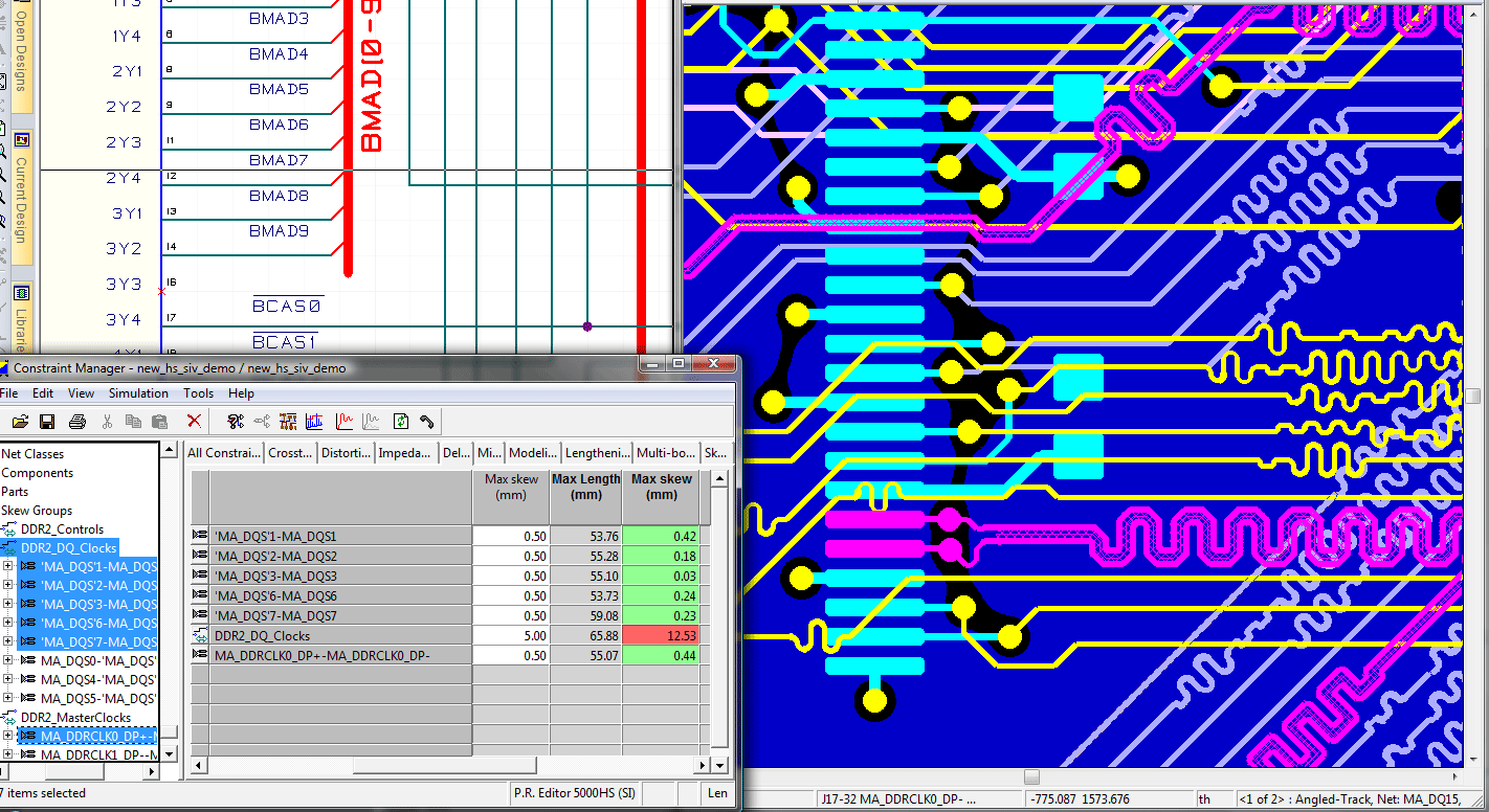 pcb design software cadstar place and route editor highspeed concurrent input and verification of high speed constraints