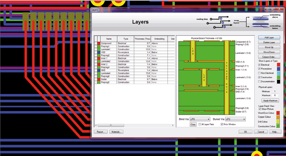 pcb design software cadstar placement planner early stack up planning to meet high speed requirements