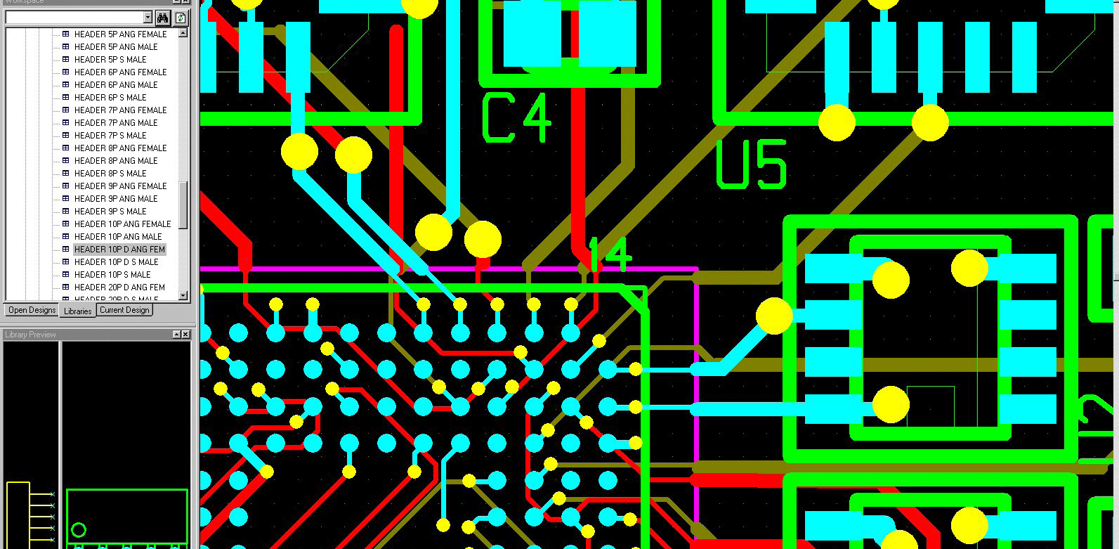 pcb design software cadstar rules by area display of the used design rules