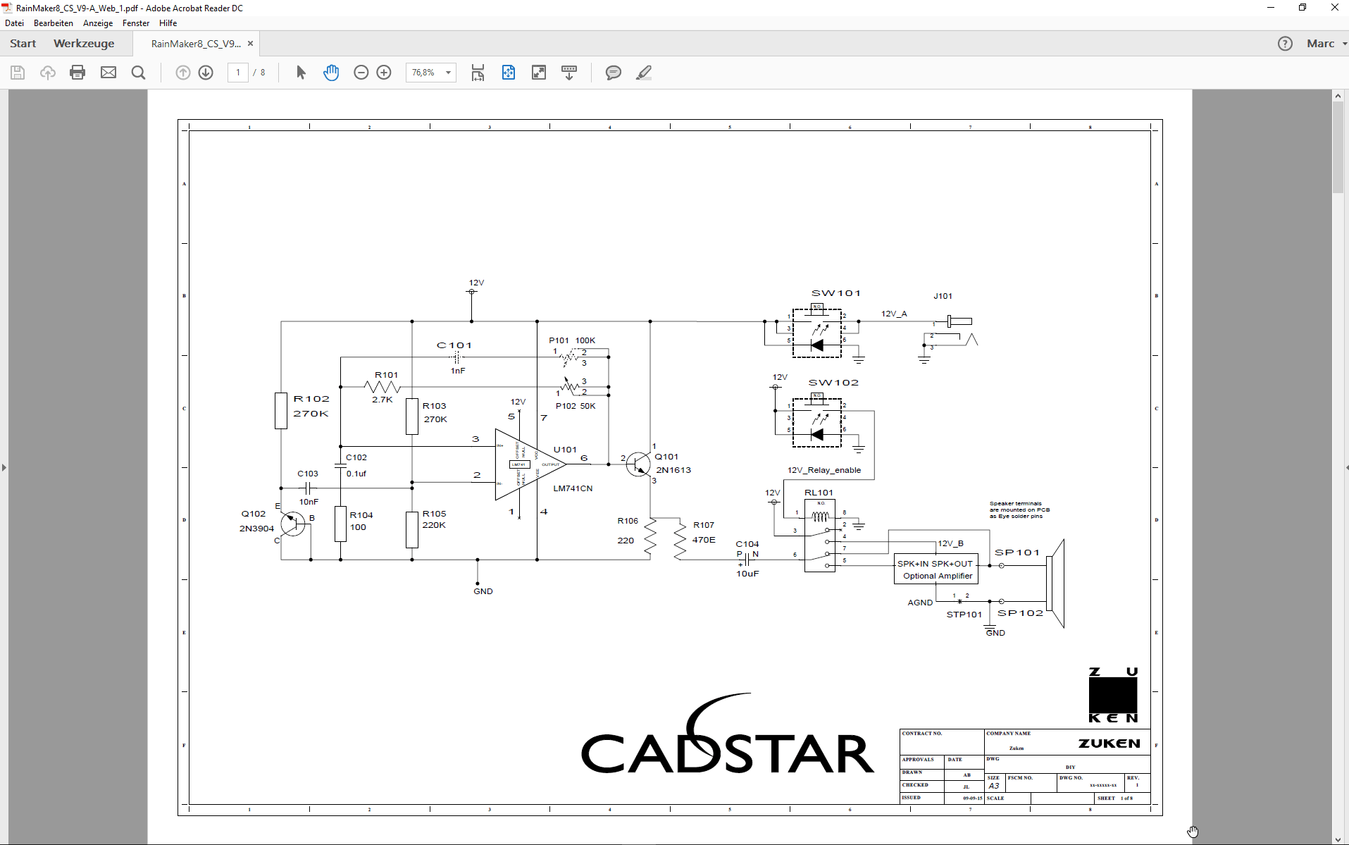 pcb design software cadstar schematics variants Bestueckungs Variante A SCM mit non fitted PDF