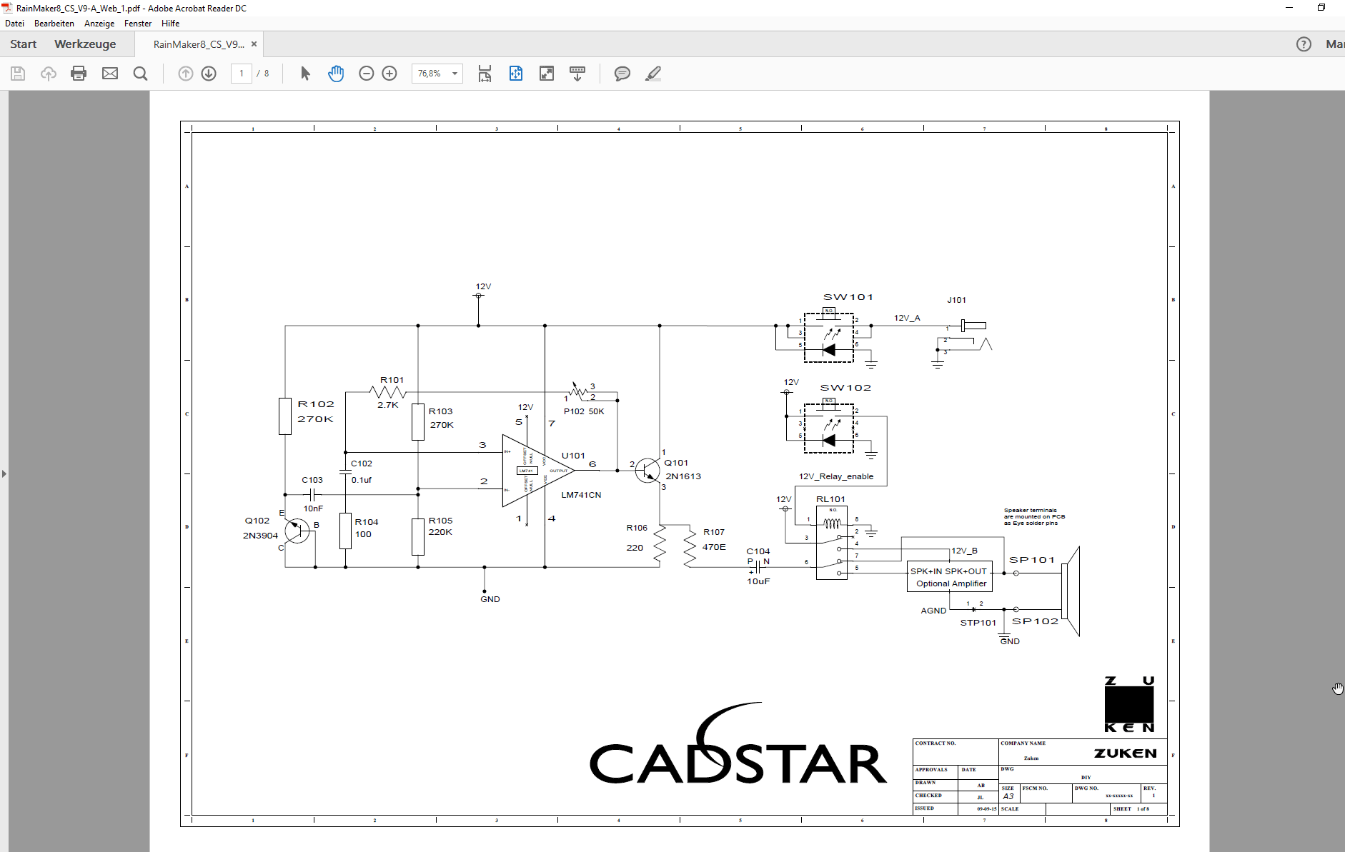 pcb design software cadstar schematics variants Bestueckungs Variante A SCM ohne non fitted PDF