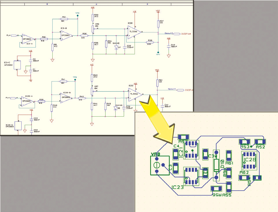 pcb design software cadstar schematics variants assign reuse circuits and place layout reuse blocks