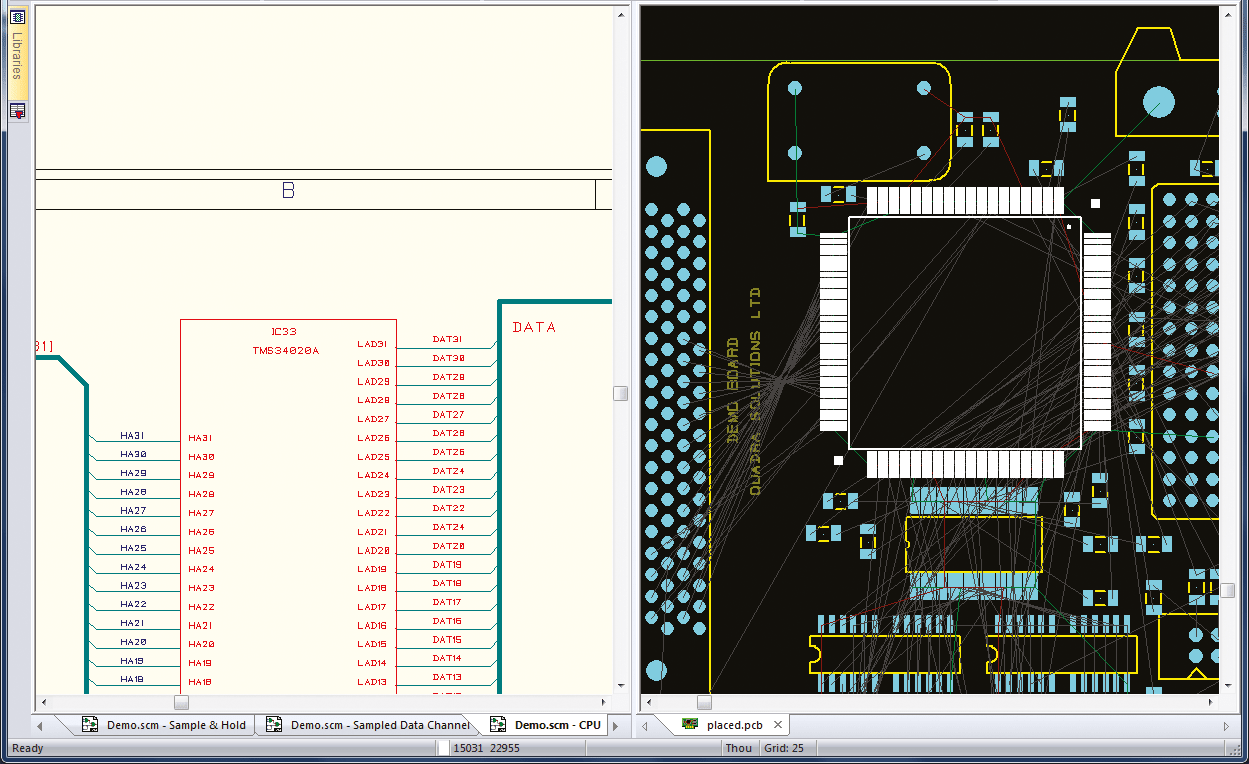 pcb design software cadstar schematics variants bi directional cross probing eases placement and routing