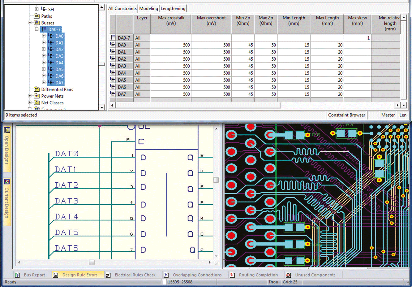 pcb design software cadstar schematics variants concurrent input and verification of high speed