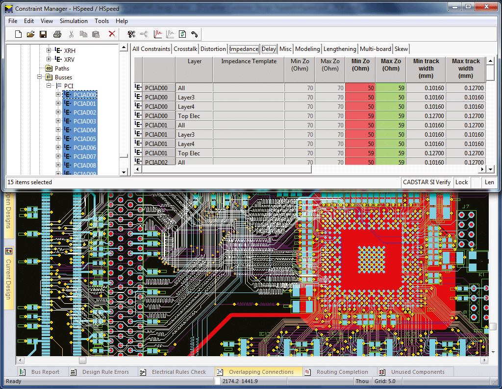 pcb design software cadstar signal integrity verify integration constraint management system for easy access and verification